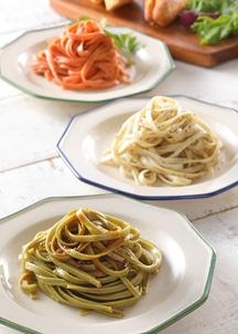 お野菜の手延べパスタ タリアテッレ&パスタソースギフトセット(3種のタリアテッレ×2本、パスタソース2本)