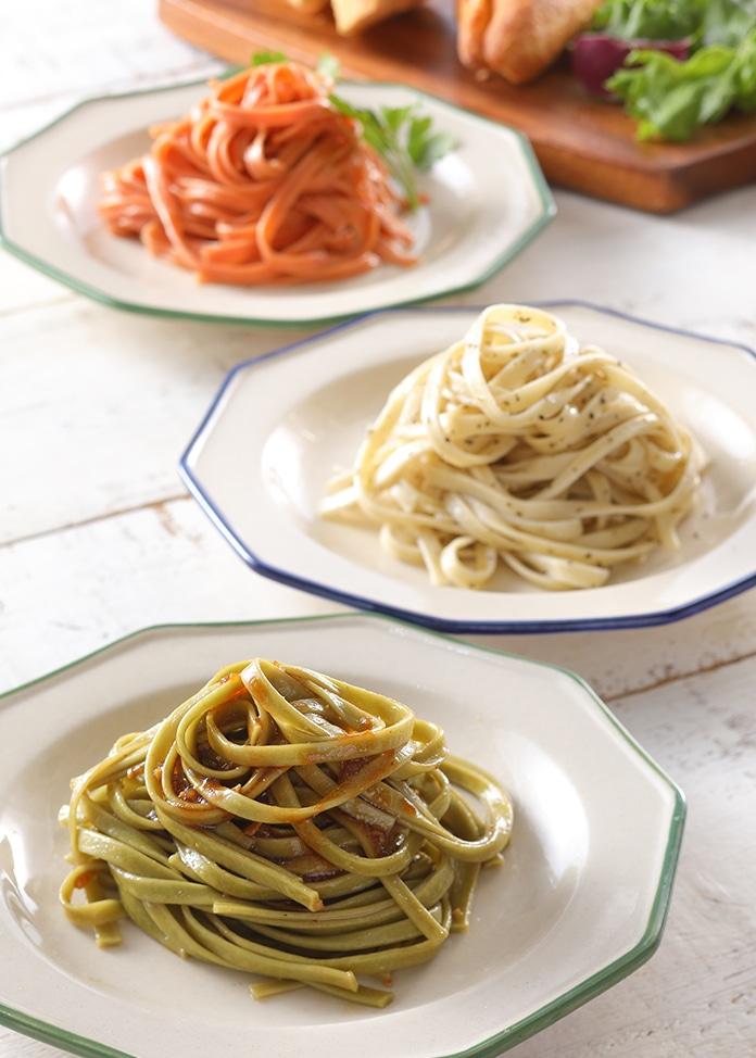 くまもとあさぎり物産館 お野菜の手延べパスタ タリアテッレ&パスタソースギフトセット(3種のタリアテッレx2本、パスタソース2本)