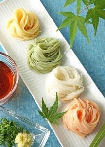 お野菜手延べそうめん4種 ギフトセット(豆乳・南瓜・人参・ほうれん草)