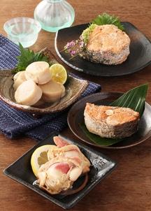 紅鮭水煮・キングサーモン水煮・帆立貝柱の水煮・北寄貝の水煮 缶詰6缶セット