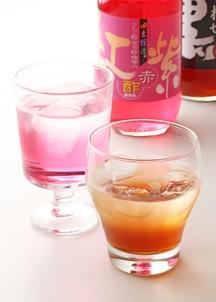 四季爛漫飲むお酢2本セット(赤酢紅紫、しあわせ黒酢600ml×各1本)