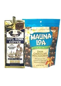 【ハワイコーヒー&マカダミアセット】Mulvadi 100%コナコーヒーホールビー