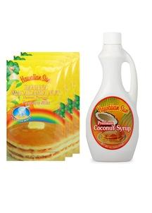 【Hawaiian Sun】パンケーキ3袋&シロップセット バナナココナッツ