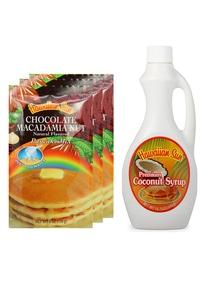 【Hawaiian Sun】パンケーキ3袋&シロップセット チョコレートココナッツ