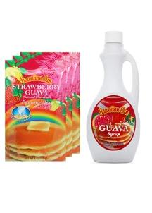 【Hawaiian Sun】パンケーキ3袋&シロップセット ストロベリーグァバ