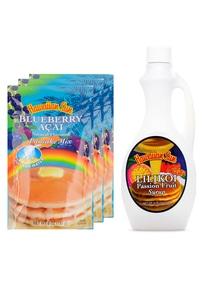 【Hawaiian Sun】パンケーキ3袋&シロップセット アサイリリコイ