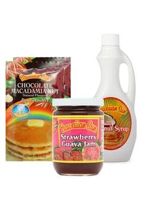 【Hawaiian Sun】パンケーキスペシャルセットチョコレートココナッツグァバ