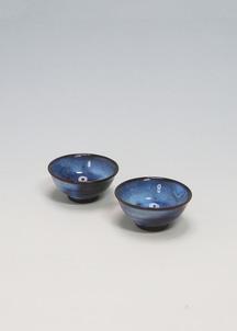 【萩焼】青萩釉 ペア盃セット