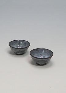 【萩焼】青釉 ペア盃セット