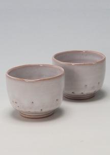【萩焼】白釉 ペア碗セット
