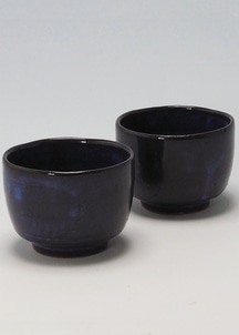 【萩焼】青萩釉 ペア碗セット
