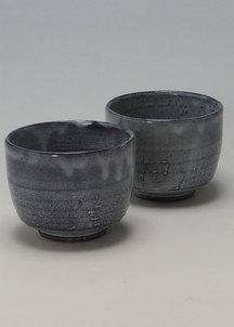 【萩焼】青釉 ペア碗セット