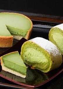 ふうわり抹茶ロールケーキ&なめらか抹茶タルトセット ロールケーキ270g・タルト180g