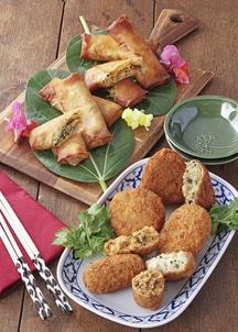 タイ味コロッケ4種類と春巻き2種セット