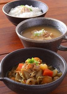 地鶏の3種レトルトセット(しみわたる鶏粥・ひとりじめ鶏モツ煮・ほっこりするスープ 各2個)