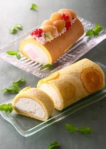 堂島サワーピーチロール・オレンジ&レモンロール セット