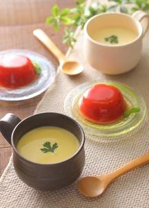 スイートコーンスープ・トマトベリーゼリーセット