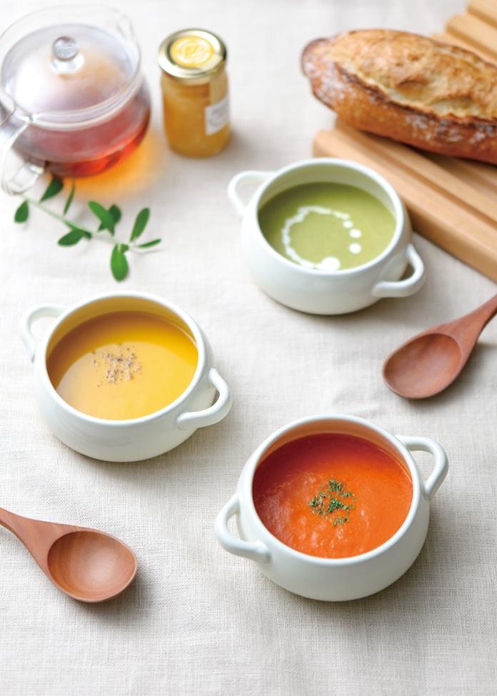ひだまりとアンダンテ 野菜スープ3種6食詰合せセット(ブロッコリー、カボチャ、トマト)