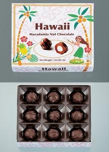 【訳あり】ハワイマカダミアナッツチョコ(フラデザイン)9粒入り×4箱