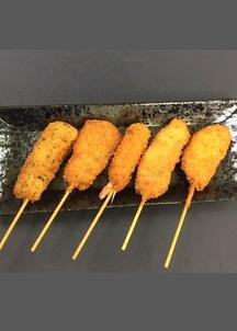 海鮮串揚げ50本入り(いか磯辺串、あじ串、えび串、いわし梅しそ、れんこん海鮮すり身串)
