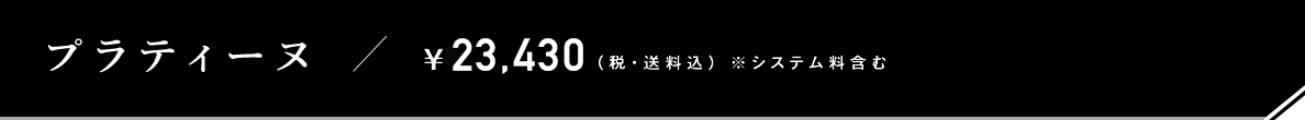 プラティーヌ / ¥23,044(税・送料込) ※システム料含む